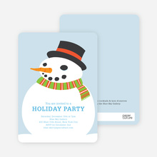 Fat Snowman Holiday Invitations - Powder Blue