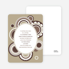 Festive Colors Multi Purpose Party Invitations - Mocha Milk