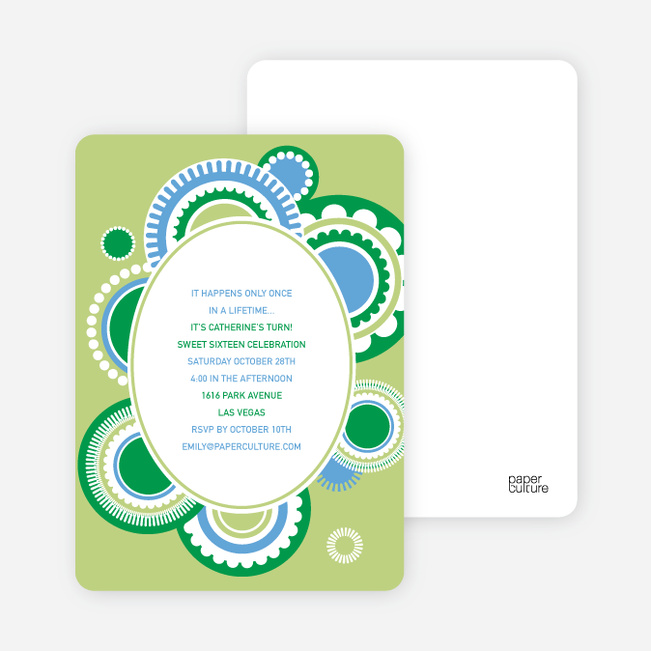 Festive Colors Multi Purpose Party Invitations - Lime Light