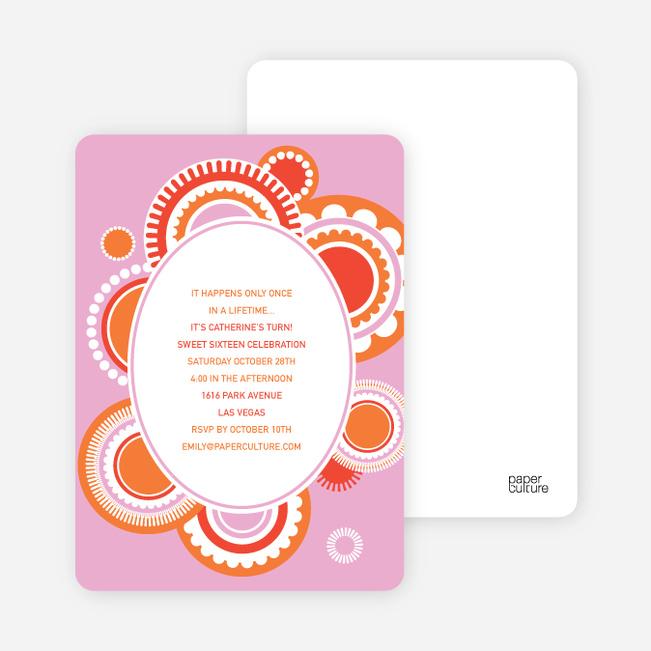 Festive Colors Multi Purpose Party Invitations - Bubble Gum