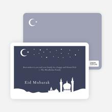 Festive Mosque - Indigo