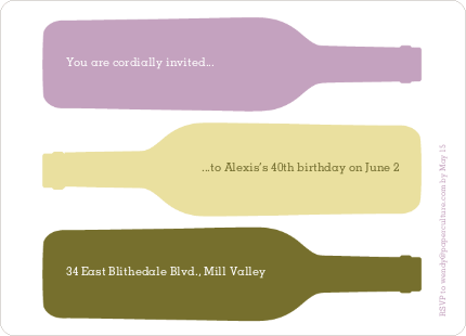 Fine Wine Party Invitation - Lavender