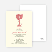 First Sacrament Chalice Holy Communion Invitation - Brick Red
