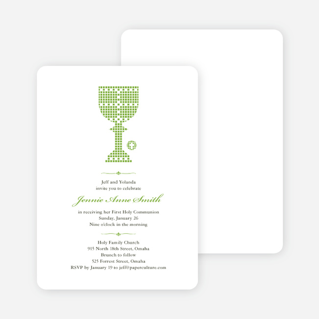 first sacrament chalice holy communion invitation paper culture
