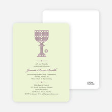First Sacrament Chalice Holy Communion Invitation - Grape