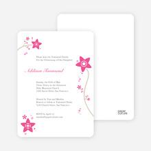 Floral Baptism Invitation - Pink