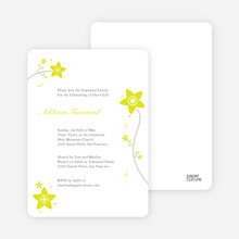 Floral Baptism Invitations - Yellow