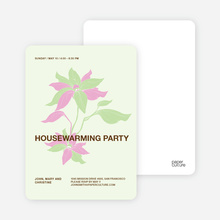Flower Themed Housewarming Party - Pistachio