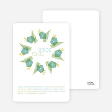 Flower Wreath Bridal Shower Invitations - Teal