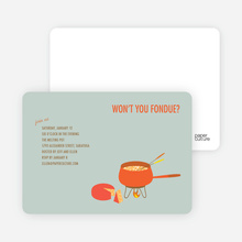 Fondue Party Invites - Grape
