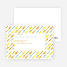 Fork Fork Fork Party Invitation - Tangerine Orange