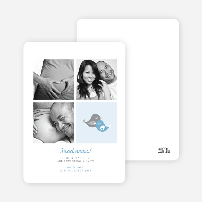 Foursquare Pregnancy Announcements - Blue Bird