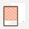 Geo Pattern Bridal Shower Invitations - Orange Rain