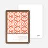 Geo Pattern Bridal Shower Invitations - Orange Rain