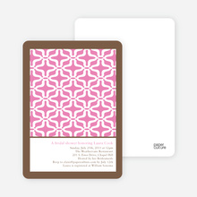 Geo Pattern Bridal Shower Invitations - Lipstick