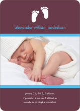 Baby Feet Photo Birth Announcements - Raisin