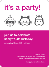 Costume Party Invitations - Fuchsia