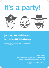 Costume Party Invitations - Light Blue