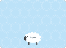 Sheep Baby Shower Note Cards - Light Blue