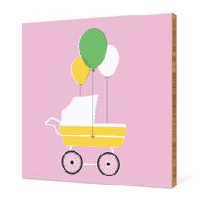 Stroller Art - Pink Velvet