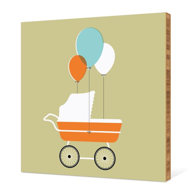 Baby Stroller Bamboo Wall Art - Artichokey