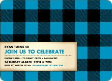 Scottish Plaid Invitations - Cobalt Blue