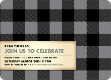Scottish Plaid Invitations - Silver