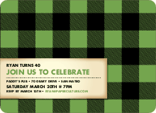Scottish Plaid Invitations - Celery