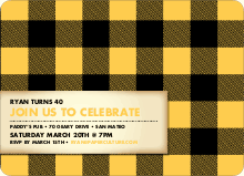 Scottish Plaid Invitations - Golden Yellow
