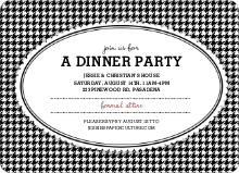 Houndstooth Invitations - Black
