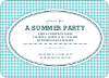 Houndstooth Invitations - Azure