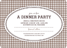 Houndstooth Invitations - Cappuccino
