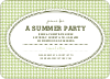 Houndstooth Invitations - Bamboo