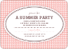 Houndstooth Invitations - Front View
