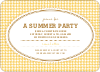 Houndstooth Invitations - Lemon Yellow