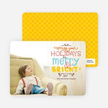 Hand Drawn Holidays Photo Card - Daffodil