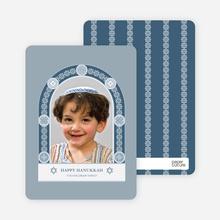 Jewish Arch Hanukkah Card - Cadet Blue
