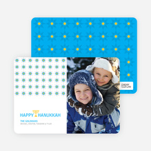 Happy Hanukkah Card - Cornflower Blue