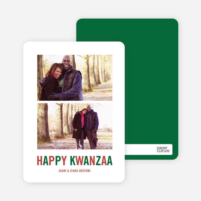 Happy Kwanzaa Cards - Crimson