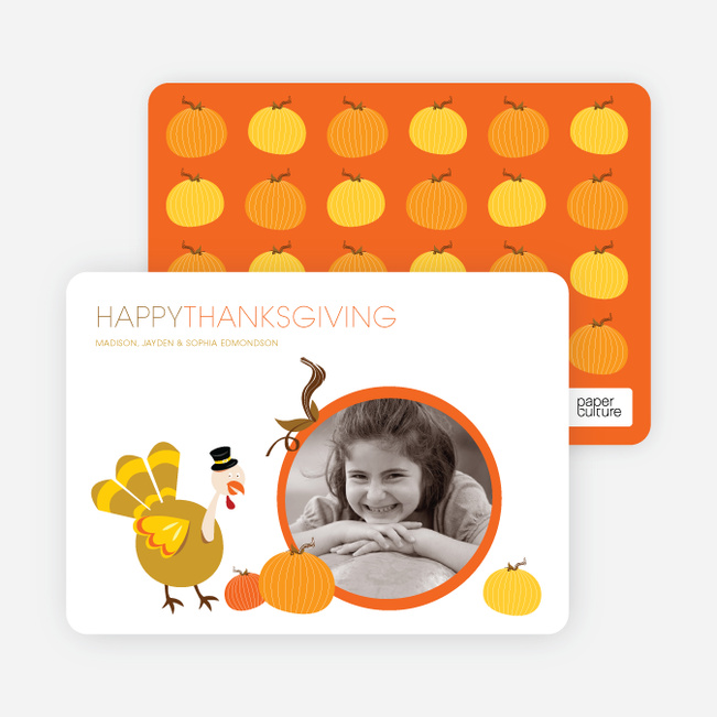 Happy Thanksgiving Photo Cards - Pumpkin