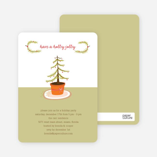 Have a Holly Jolly Holiday Invitations - Celadon