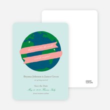Her Promised Her the World and She Accepted Save the Dates - Eco Pink