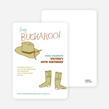 Hey Buckaroo - Green Saddle