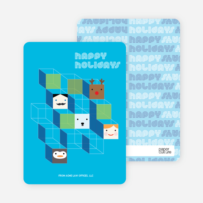 Hip to be Square Holiday Cards - Sky Blue