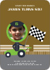 Birthday Invitation for future Daytona, Indianapolis and NASCAR Racers - Khaki Brown