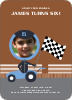 Birthday Invitation for future Daytona, Indianapolis and NASCAR Racers - Sienna Brown