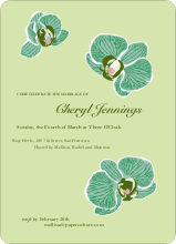 Orchid Bridal Shower Invitations - Apple Green