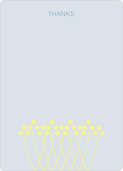 Stationery: 'Unique Bridal Shower Invitations' cards. - Lemon Yellow