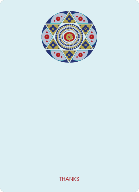 Notecards for the 'Ornate Star of David' cards. - Powder Blue