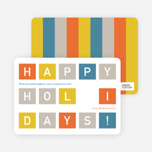 Holiday Photo Cards: Blocks - Nickel